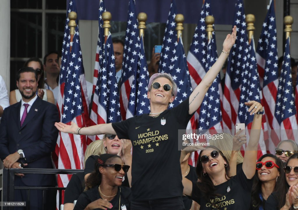 The U.S. Women's National Soccer Team Victory Parade and City Hall Ceremony : News Photo
