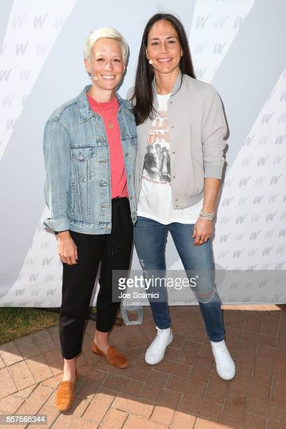 Megan Rapinoe and Sue Bird attend the 8th Annual espnW Women Sports Summit at Resort at Pelican Hill on October 4 2017 in Newport Beach California