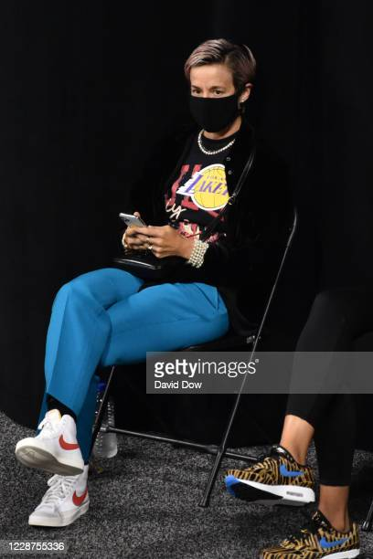 Megan Rapinoe during the game between the Minnesota Lynx and Seattle Storm in Game three of the Semifinals of the WNBA Playoffs on September 27 2020...