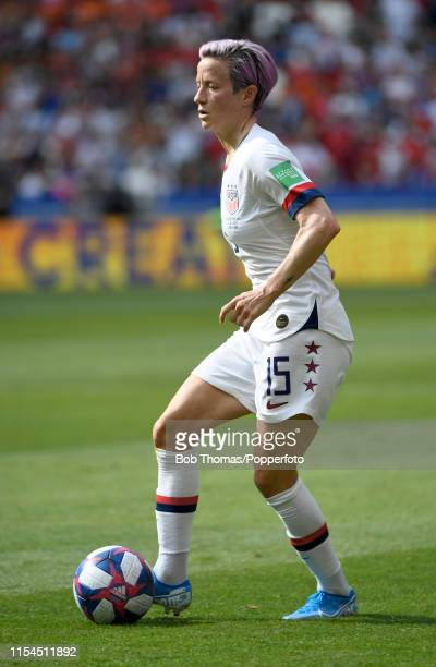 Megan Rapinoe in action for the USA during the 2019 FIFA Women's World Cup France Final match between The United States of America and The...