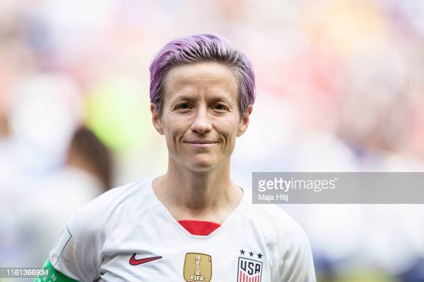 Megan Rapinoe of the USA looks on prior to the 2019 FIFA Women's World Cup France Final match between The United States of America and The...