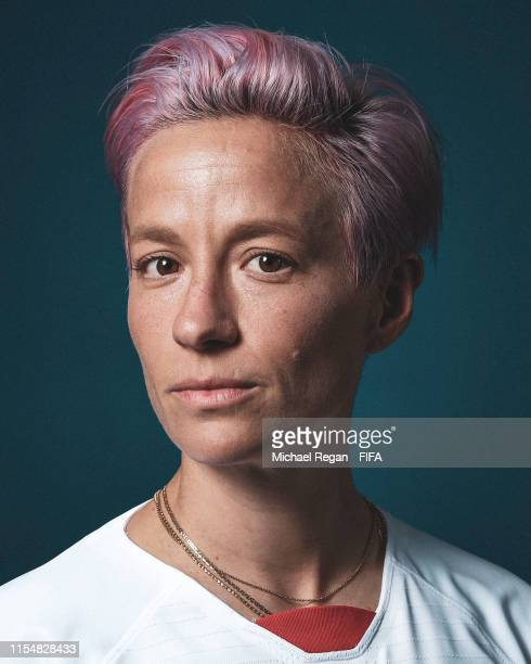 Megan Rapinoe of the USA poses for a portrait during the official FIFA Women's World Cup 2019 portrait session at Best Western Premier Hotel de la...