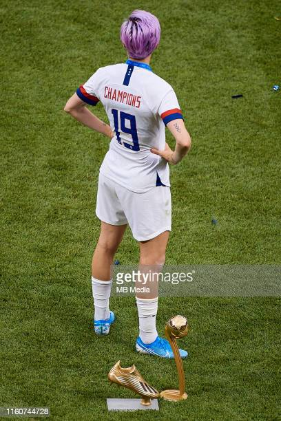 Megan Rapinoe of the USA poses with her three quartiers during the 2019 FIFA Women's World Cup France Final match between The United States of...