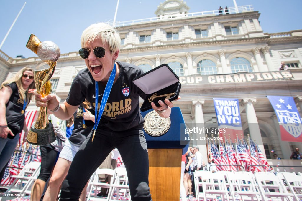 2015 U.S. Women's National Soccer Team World Cup Champions Ticker Tape Parade : News Photo