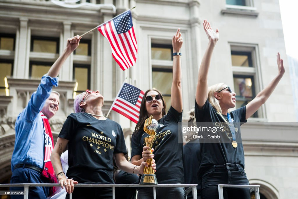 U.S. Women's National Team World Cup Champions Ticker Tape Parade : News Photo