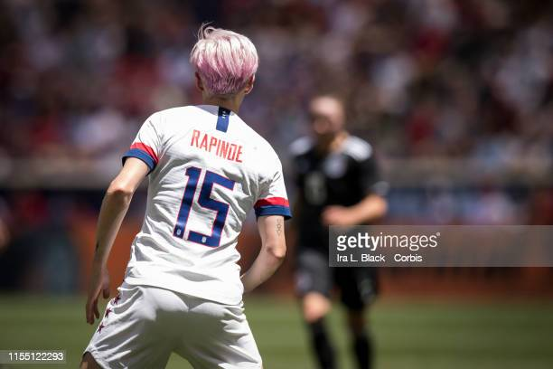 Megan Rapinoe of United States stand with her back facing the goal during the International Friendly match the US Women's National Team and Mexico as...