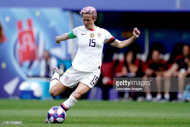 Megan Rapinoe of USA Women during the World Cup Women match between Spain v USA at the Stade AugusteDelaune on June 24 2019 in Reims France