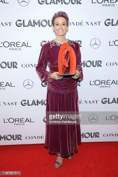 Megan Rapinoe poses backstage during the 2019 Glamour Women Of The Year Awards at Alice Tully Hall on November 11 2019 in New York City