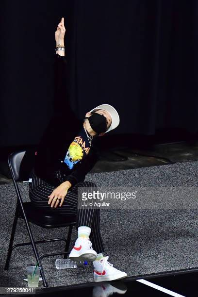 Megan Rapinoe reacts after a three point basket by Alysha Clark of the Seattle Storm during the first half of Game 3 of the WNBA Finals against the...