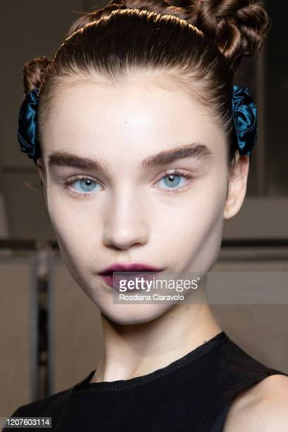 Megan Roche is seen backstage at the Fendi fashion show on February 20 2020 in Milan Italy
