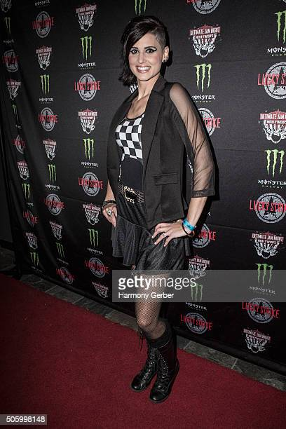 Megan Ruger arrives to Ultimate Jam Night at Lucky Strike Live on January 20 2016 in Hollywood California