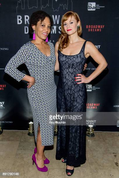 Megan Sikora and guest attends the10th Annual Broadway Dreams Supper at The Plaza Hotel on December 12 2017 in New York City