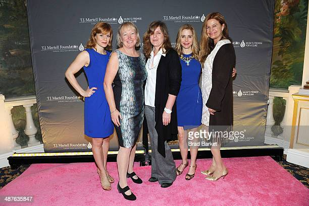 Megan Sikora Prudence Fraser Kirsten Sanderson Kerry Butler and Marla McNally Phillips attend the TJ Martell Foundation's Women of Influence Awards...