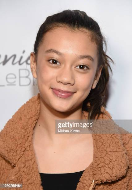 Megan Skiendiel attends the Annie LeBling presents Annie LeBlanc Performance Pop Up Shop on December 8 2018 in Los Angeles California