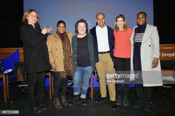Megan Smith Octavia Spencer Christine Vachon Patrick Gaspard Sarah Ellison and Issa Rae attend the Panel Adaptation during the 2018 Sundance Film...
