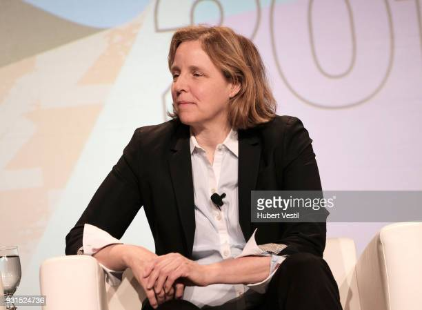 Megan Smith speaks onstage at Democratizing AI for Individuals Organizations during SXSW at Austin Convention Center on March 13 2018 in Austin Texas