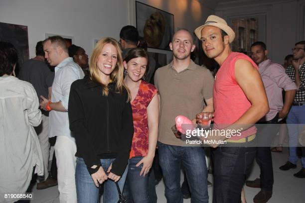 Megan Spencer Caetlyn Spencer Ian McConnell and Abraham Cruz attend PYT Pretty Young Thing cocurated by Anne Huntington Diana Campbell at 833...