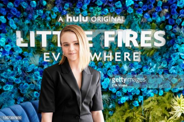 Megan Stott attends Hulu Little Fires Everywhere Press Brunch at ROSS HOUSE on February 19 2020 in Los Angeles California