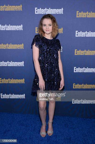 Megan Stott is seen as Entertainment Weekly Celebrates Screen Actors Guild Award Nominees at Chateau Marmont on January 18 2020 in Los Angeles...