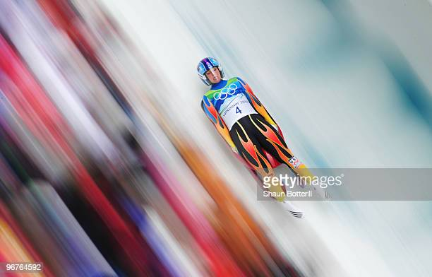 Megan Sweeney of The United States competes during the Luge Women's Singles on day 5 of the 2010 Winter Olympics at Whistler Sliding Centre on...