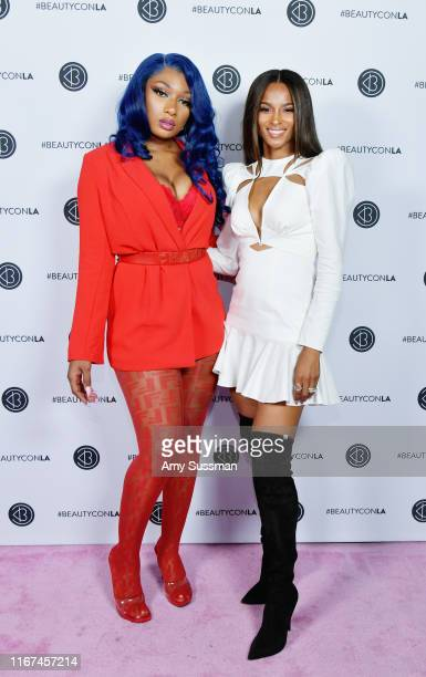 Megan Thee Stallion and Ciara attend Beautycon Festival Los Angeles 2019 at Los Angeles Convention Center on August 11 2019 in Los Angeles California
