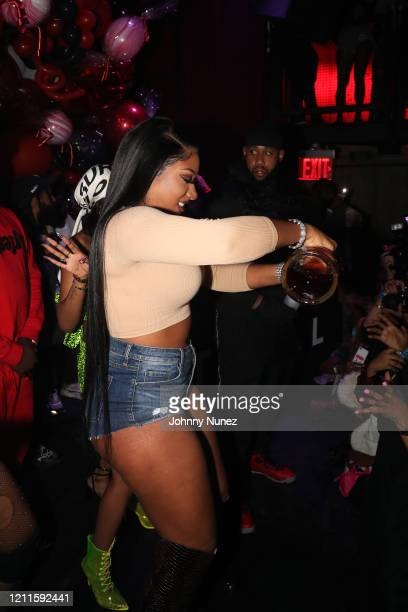 Megan Thee Stallion appears onstage at the TIDAL X Megan Thee Stallion Ain't Shit Sweet Hottie Party at Public Arts on March 09 2020 in New York City