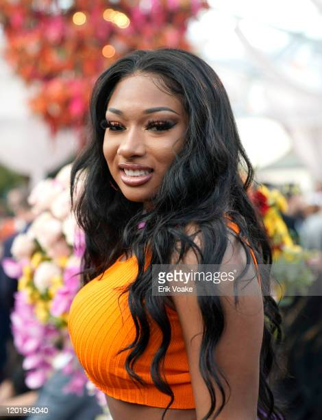 Megan Thee Stallion attends 2020 Roc Nation THE BRUNCH on January 25 2020 in Los Angeles California