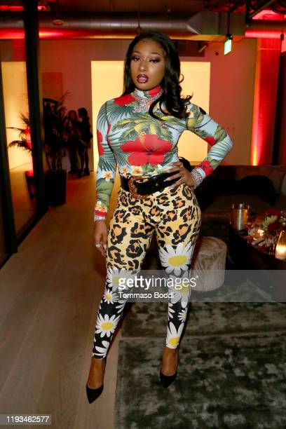 Megan Thee Stallion attends A Celebration of The Fearless Women in Music Hosted by YouTube Music and Megan Thee Stallion at Spring Studios on...