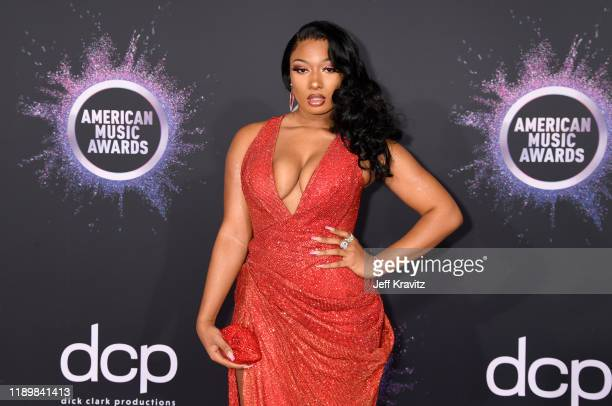 Megan Thee Stallion attends the 2019 American Music Awards at Microsoft Theater on November 24 2019 in Los Angeles California