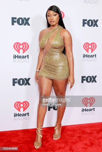 Megan Thee Stallion attends the 2021 iHeartRadio Music Awards at The Dolby Theatre in Los Angeles, California, which was broadcast live on FOX on May...