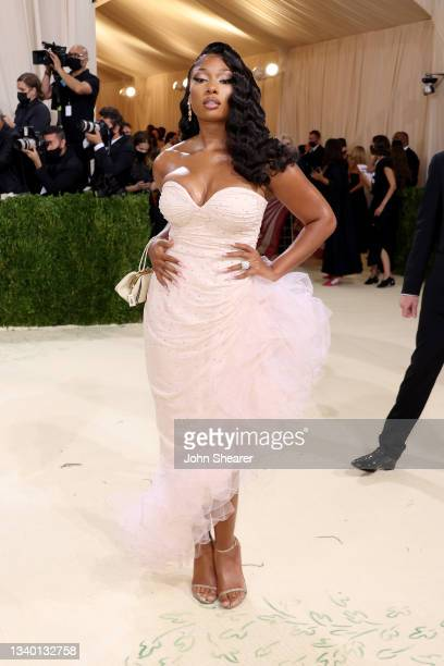 Megan Thee Stallion attends The 2021 Met Gala Celebrating In America: A Lexicon Of Fashion at Metropolitan Museum of Art on September 13, 2021 in New...