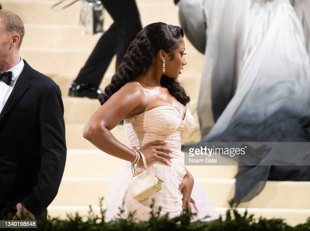 Megan Thee Stallion attends the 2021 Met Gala celebrating 'In America: A Lexicon of Fashion' at The Metropolitan Museum of Art on September 13, 2021...