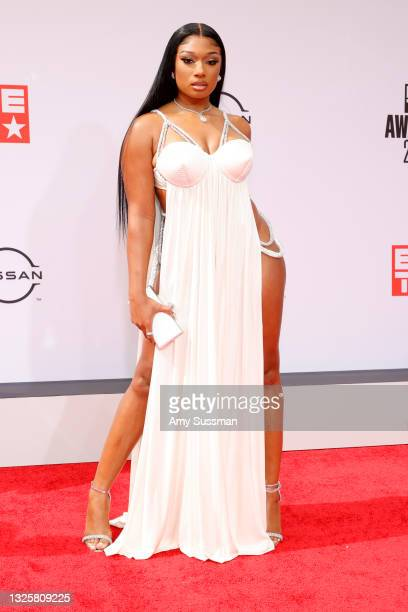 Megan Thee Stallion attends the BET Awards 2021 at Microsoft Theater on June 27, 2021 in Los Angeles, California.