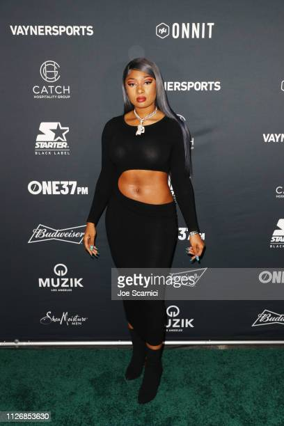 Megan Thee Stallion attends VaynerSports x ONE37pm Emerging Kings Party on February 01 2019 in Atlanta Georgia