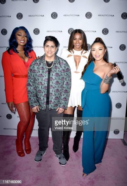 Megan Thee Stallion Beautycon Media CEO Moj Mahdara Ciara and Jeannie Mai attend Beautycon Festival Los Angeles 2019 at Los Angeles Convention Center...
