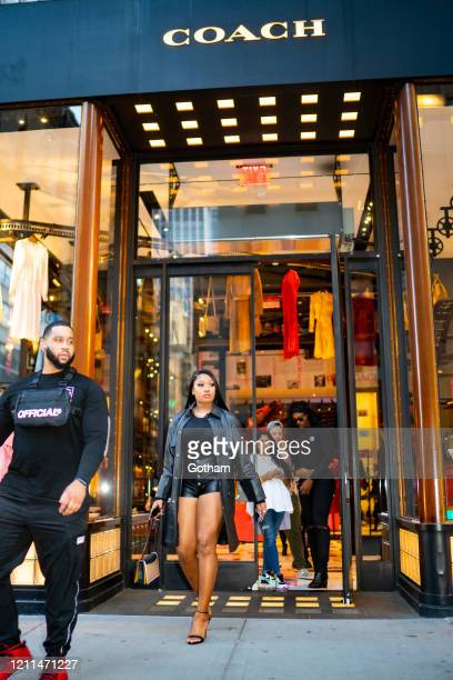 Megan Thee Stallion is seen in Midtown on March 09 2020 in New York City