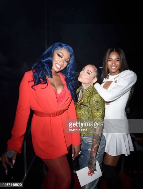 Megan Thee Stallion Kehlani and Ciara attend Beautycon Festival Los Angeles 2019 at Los Angeles Convention Center on August 11 2019 in Los Angeles...
