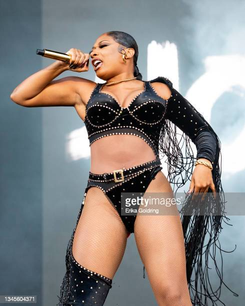 Megan Thee Stallion performs during Austin City Limits Music Festival at Zilker Park on October 08, 2021 in Austin, Texas.