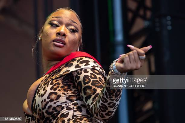 Megan Thee Stallion performs during the Astroworld Festival at NRG Stadium on November 9 2019 in Houston Texas