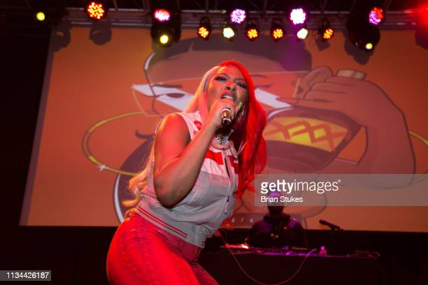 Megan Thee Stallion performs live onstage 2019 WKYS Women's Day Celebration at The Fillmore Silver Spring on March 07 2019 in Silver Spring Maryland