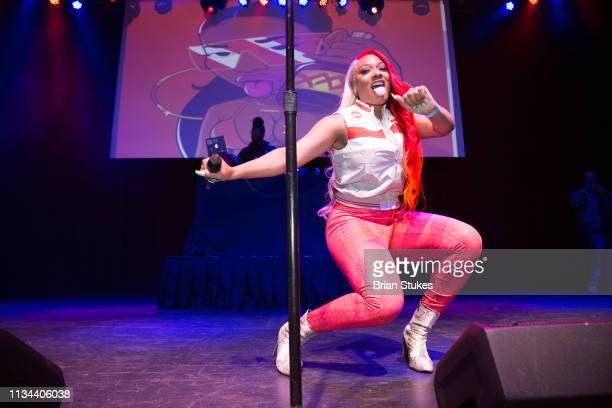 Megan Thee Stallion performs live onstage for 2019 WKYS Women's Day at The Fillmore Silver Spring on March 07 2019 in Silver Spring Maryland