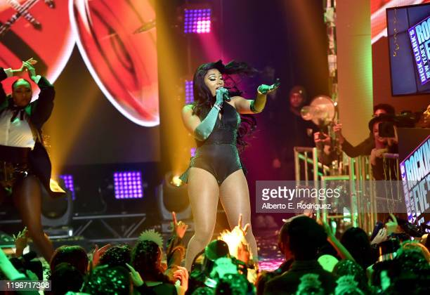 Megan Thee Stallion performs onstage during Dick Clark's New Year's Rockin' Eve with Ryan Seacrest 2020 Hollywood Party on November 23 2019 in Los...