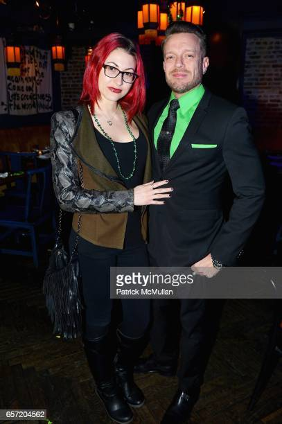 Megan Thompson and Jamie McCarthy at Jean Shafiroff hosts Surprise Party for Patrick McMullan at 49 West 20th Street on March 17 2017 in New York City