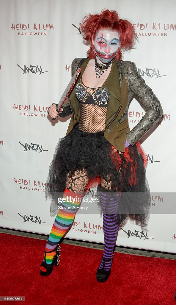 Megan Thompson attends Heidi Klum's 17th Annual Halloween Party at Vandal on October 31, 2016 in New York City.