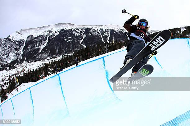 Megan Warrener of Canada takes a practice run in the halfpipe during the 2017 US Freeskiing Grand Prix at Copper Mountain on December 13 2016 in...