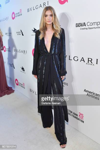 Megan William attends the 26th annual Elton John AIDS Foundation Academy Awards Viewing Party sponsored by Bulgari celebrating EJAF and the 90th...
