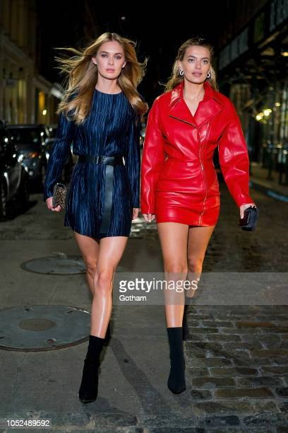 Megan Williams and Bregje Heinen are seen in SoHo on October 18 2018 in New York City
