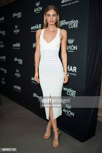 Megan Williams attends amfAR GenCure Solstice 2018 at SECOND on June 21 2018 in New York City