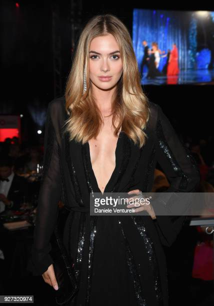 Megan Williams attends Elton John AIDS Foundation 26th Annual Academy Awards Viewing Party at The City of West Hollywood Park on March 4 2018 in Los...