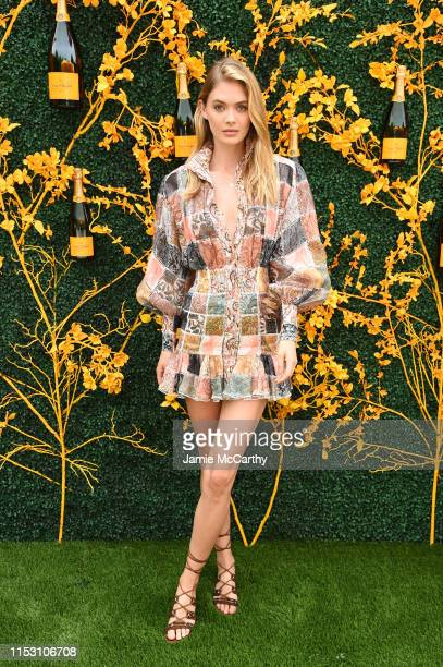 Megan Williams attends the 12th Annual Veuve Clicquot Polo Classic at Liberty State Park on June 01 2019 in Jersey City New Jersey